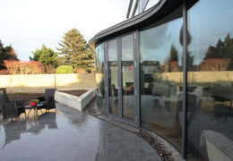 Curved double glazing